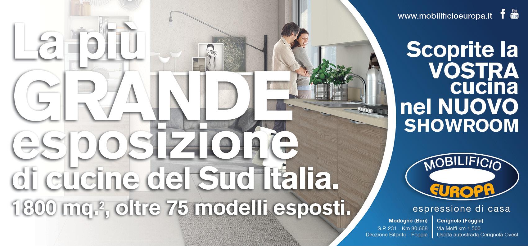 Mobilificio Europa arredamento mobili outlet a Bari e Cerignola