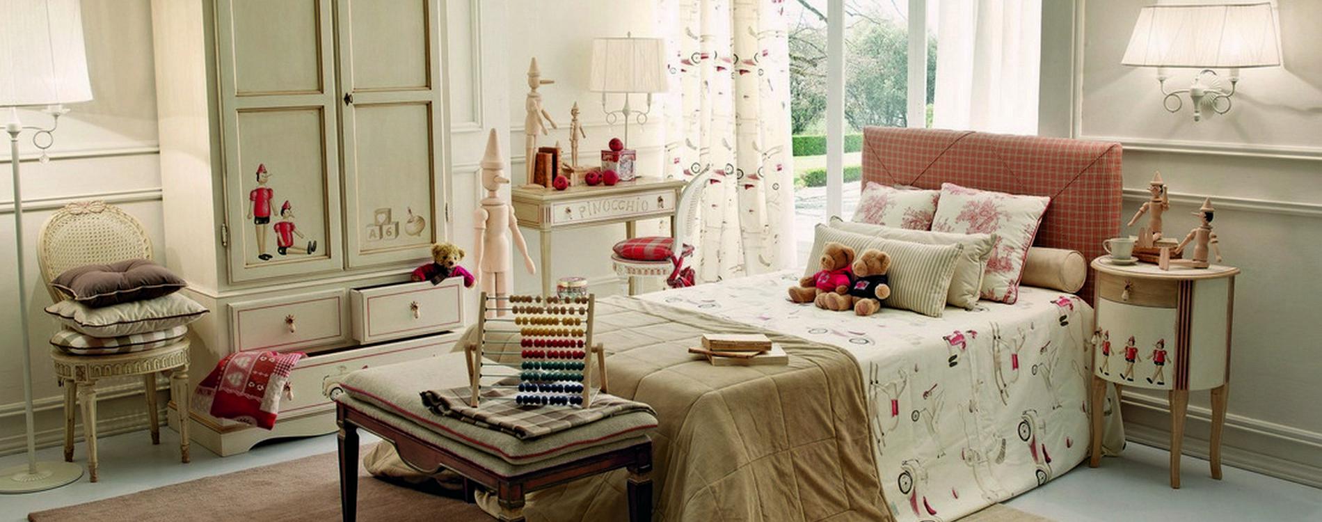 Mobilificio europa camere da letto camerette bambini lettini armadi - Cameretta stile provenzale ...